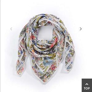 J.jill illustrated Garden square scarf